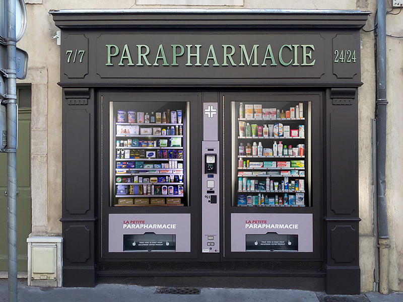 distributeur automatique de produits de parapharmacie pour les pharmacies la petite parapharmacie. Black Bedroom Furniture Sets. Home Design Ideas